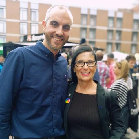 Belit Onay und Regine Kramarek, Bürgermeisterin der Landeshauptstadt und stellvertretende Bezirksbürgermeisterin im Stadtbezirk KiBeWü.