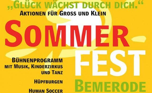 Plakat Sommerfest in Bemerode 2017
