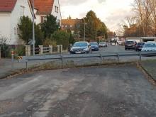 Absperrung der Steinkampstraße in Bemerode