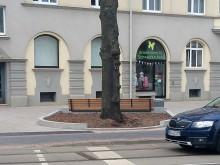 Sitzbank falsch herum in Kirchrode