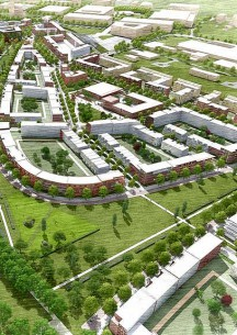 Planungsbild Kronsberg Süd bebaut